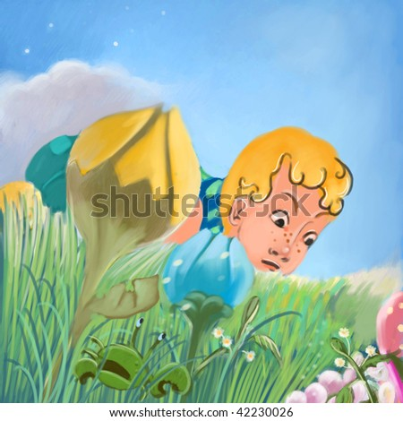 searching (search the word nikos for more) - stock photo