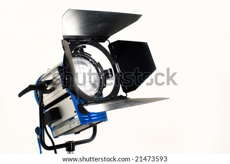 Searchlight on a white background. - stock photo