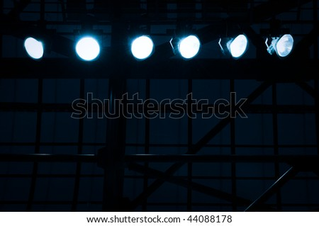 searchlights - stock photo