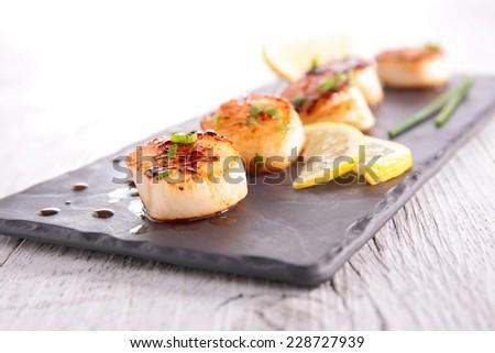 seared scallop - stock photo