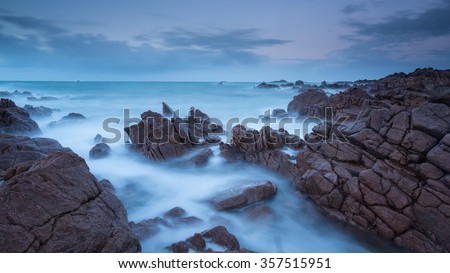 Seascape at Albecq between Cobo and Vazon Bay, Guernsey.