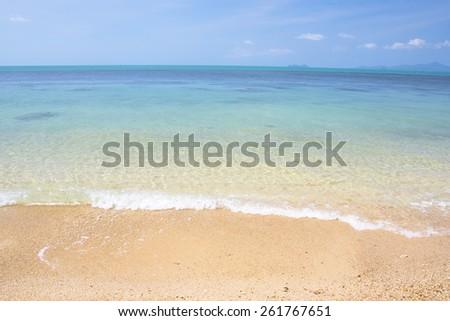 seascape at bangpo beach Koh Samui island in Thailand. - stock photo