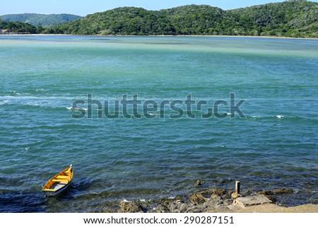 Seascape at Cabo Frio, Rio de Janeiro - stock photo