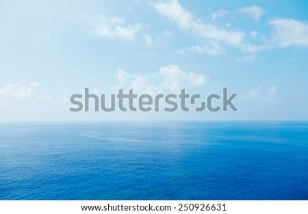 seascape at Okinawa prefecture - stock photo