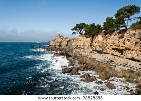 Seascape at Salt Point State Park on the Sonoma Coast in California - stock photo