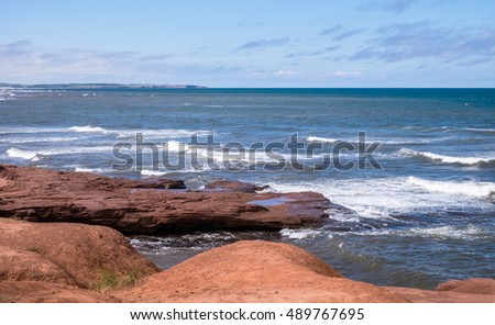 Seascape at the National Park in Prince Edward Island, Canada