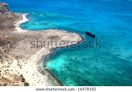 Seascape. Balos bay. Crete island. Greece. - stock photo