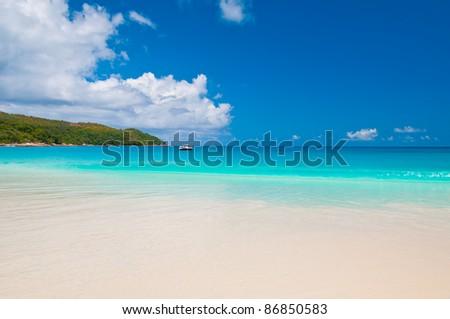 Seascape beach ocean - stock photo
