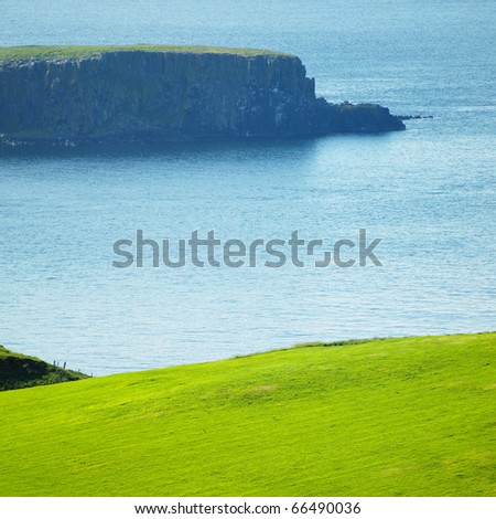 seascape, County Antrim, Northern Ireland - stock photo