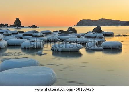 Seascape. Far East of Russia. Japan Sea. - stock photo