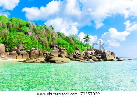 Seascape Getaway Beauty - stock photo