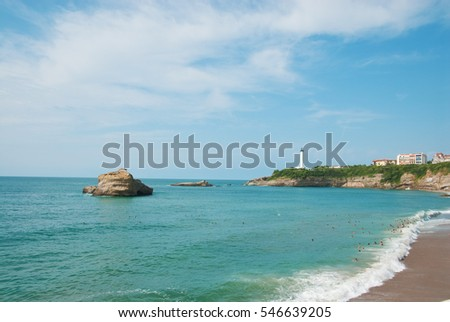 Seascape in Biarritz, France