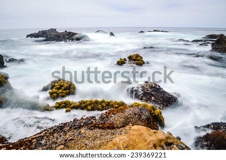 Seascape in California - stock photo