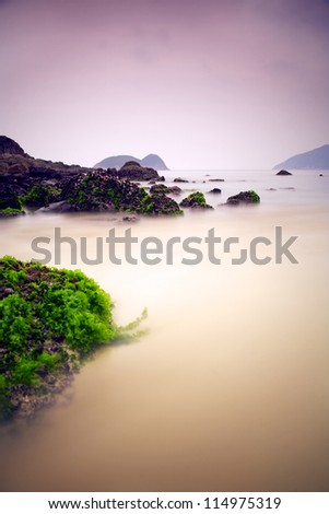 Seascape in Hongkong - stock photo