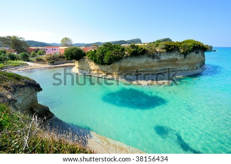 seascape in summer - stock photo