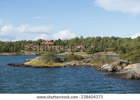 Seascape in Sweden - stock photo