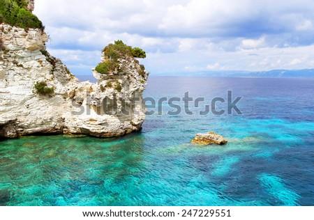 Seascape.Ionian sea ,Greece. - stock photo