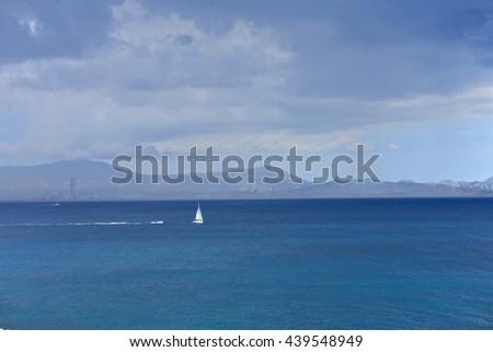 Seascape, Mediterranée, France - stock photo