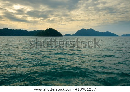 Seascape of Koh Chang in Trat province, Thailand / Seascape of Koh Chang