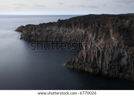 Seascape of los Hervideros, Lanzarote - stock photo