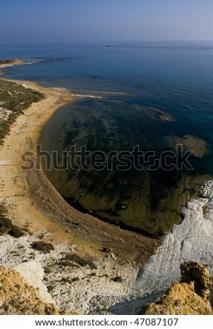 seascape, scala dei Turchi, Realmonte, Agrigento, Sicily, Italy - stock photo