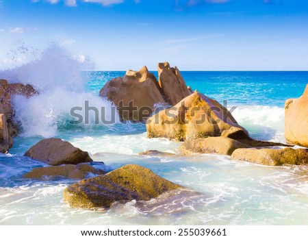 Seascape Storm Foam  - stock photo