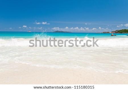 Seascape. The Seychelles - stock photo