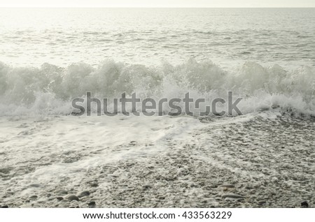seascape with wave