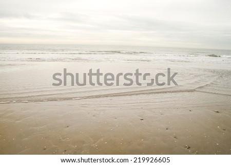 seashore in the north sea  - stock photo