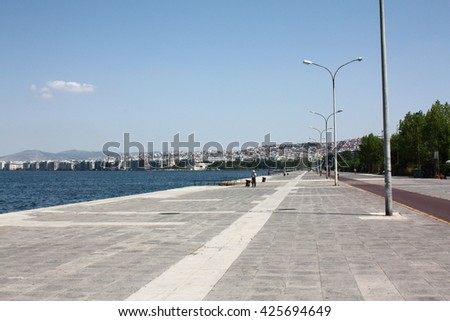 Seashore in Thessaloniki in Greece