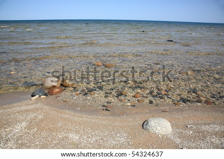 Seashore - Lake Huron - stock photo