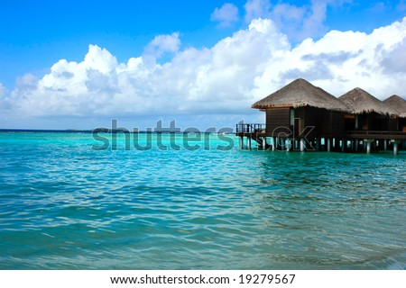 Seashore on an maldivian island