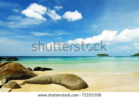 Seaside Andaman Phuket Thailand - stock photo
