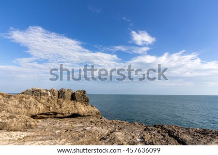 Seaside cliffs near the Portuguese city of Cascais, in the District of Lisbon
