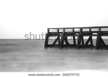 Seaside in Normandy - stock photo