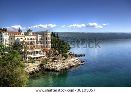 Seaside in Opatija - stock photo