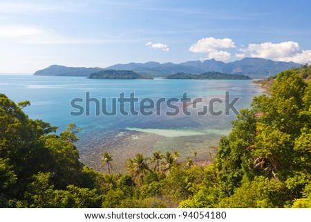Seaside landscape - stock photo