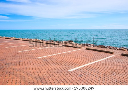 Seaside Parking parking lot  - stock photo