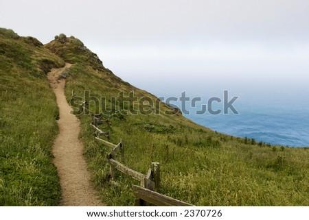 Seaside Path - stock photo