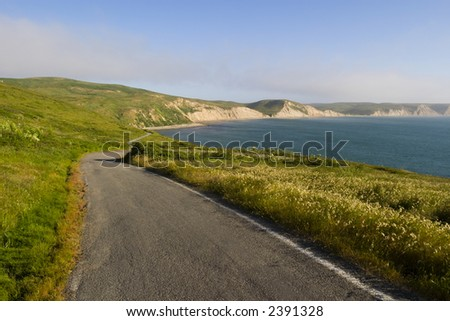 Seaside Road - stock photo