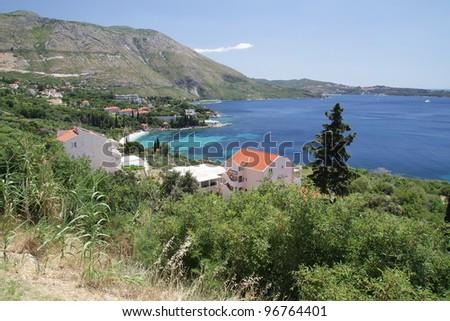 seaside town in Montenegro - stock photo
