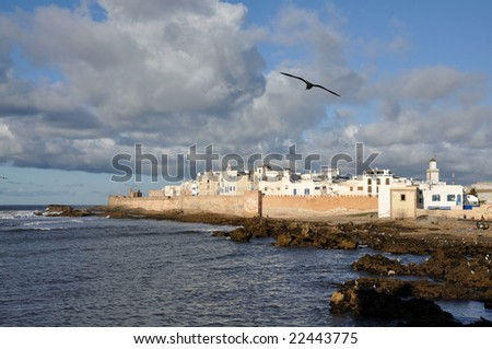 Seaside view over Essaouria, Morocco Africa - stock photo