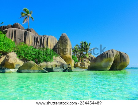 Season Rocks Summer  - stock photo