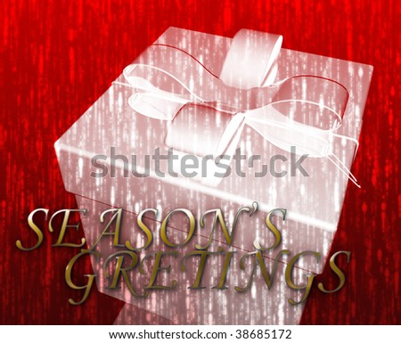 Season's greetings festive special occasion celebration abstract illustration - stock photo