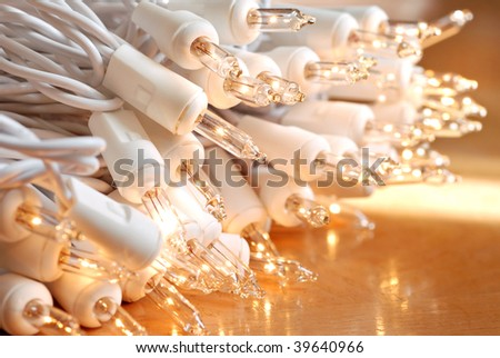 Strand Of White Christmas Lights Stock Images, Royalty-Free Images ...