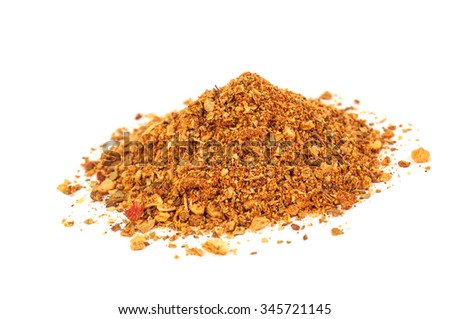 seasoning for meat on white background