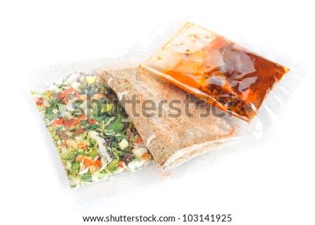 Seasoning package - stock photo