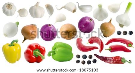 Seasoning set (separately isolated). - stock photo