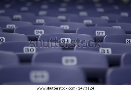 Seat 31 Among the Array - stock photo
