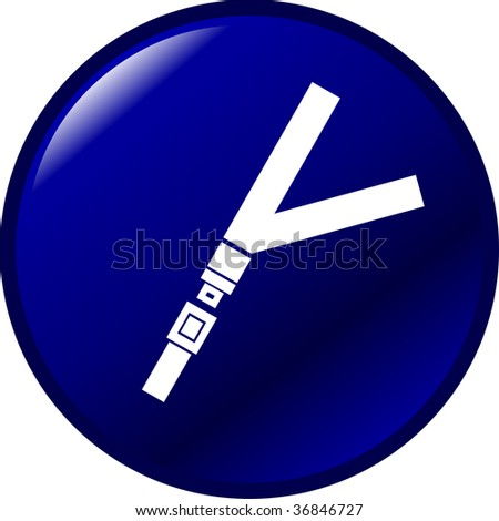 seat belt button - stock photo
